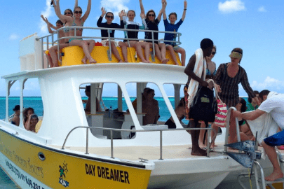 Family Vacation on a boat in Turks and Caicos