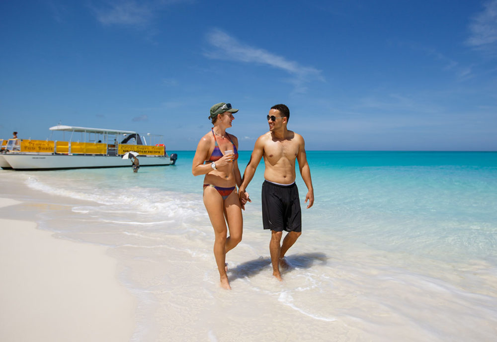 Couple enjoys Turks and Caicos Island Vacation