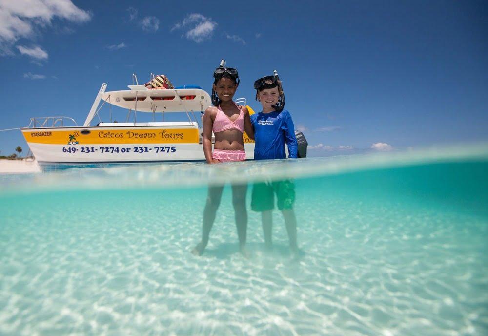 Kids on Turks and Caicos Snorkeling Adventure
